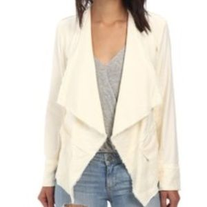 Free People Linen Blend Open Blazer Cardigan women
